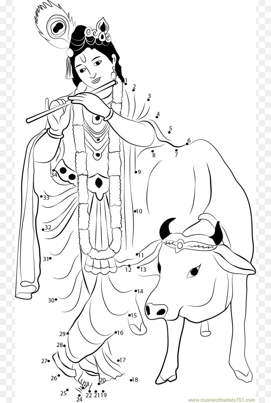 Krishna Janmashtami Ganesha libro para colorear, Dibujo de - El ...