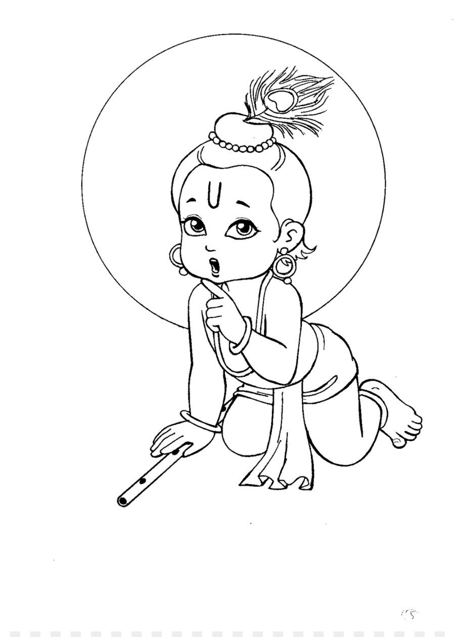 krishna janmashtami drawing bala krishna radha krishna