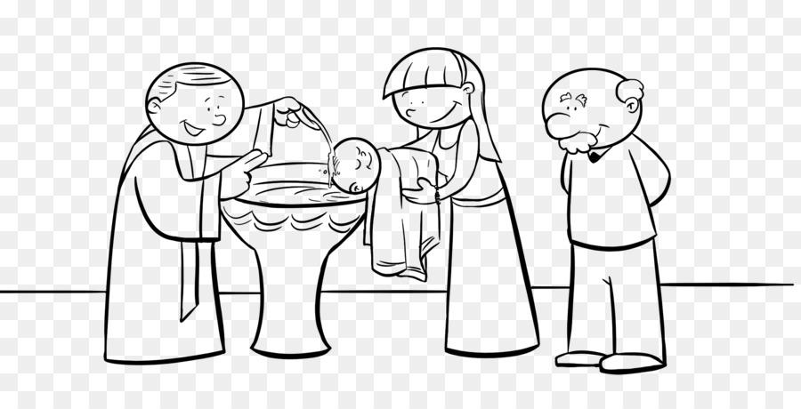 El bautismo de Jesús, libro de Colorear para los Sacramentos de la ...