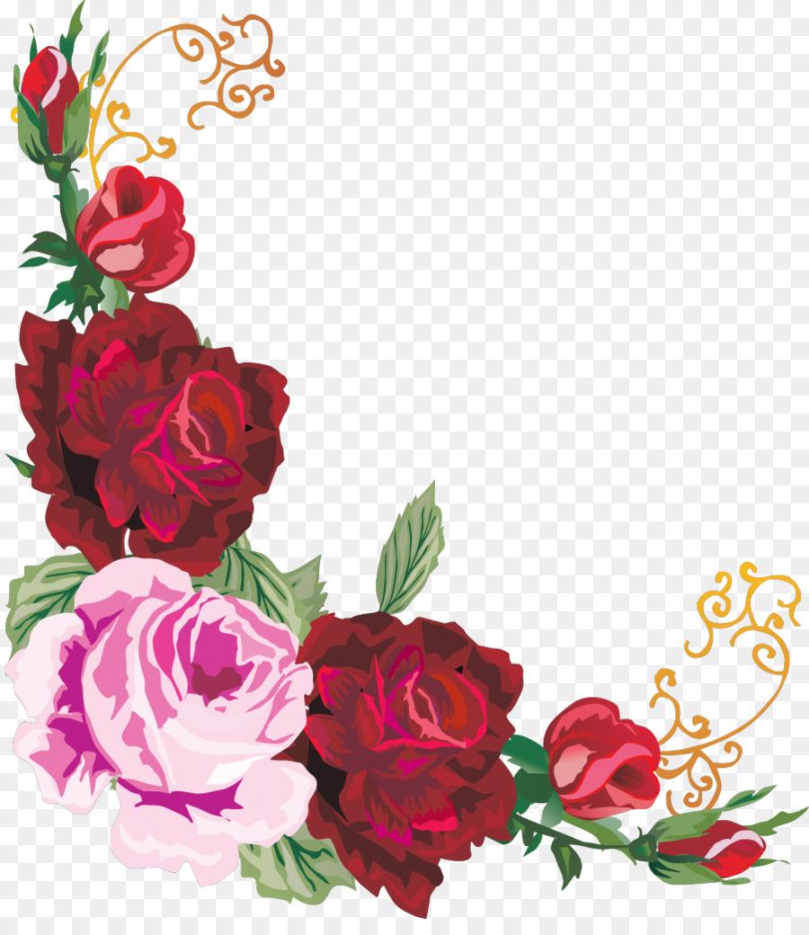 Floral design Flower Clip art - flower border png download - 902 ...