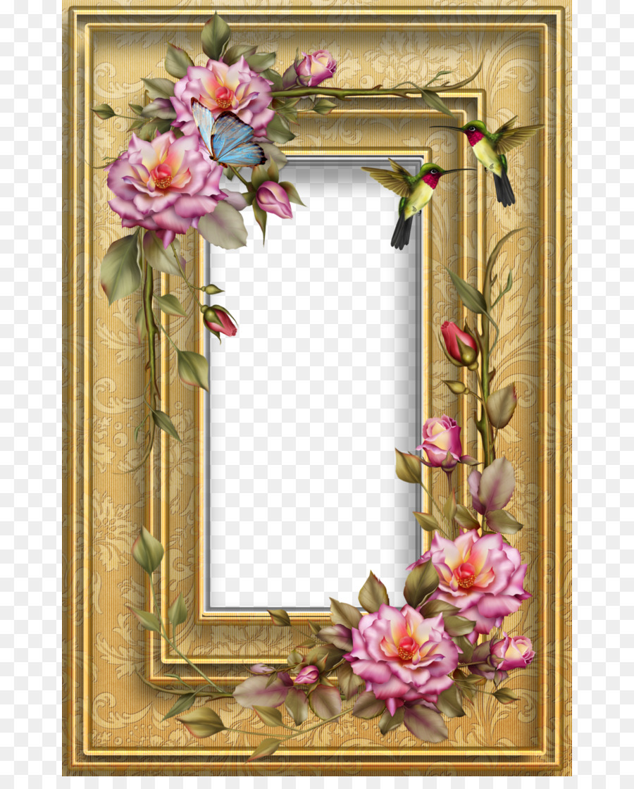 Paper Picture Frames Decoupage Mirror Painting - photo frame png ...