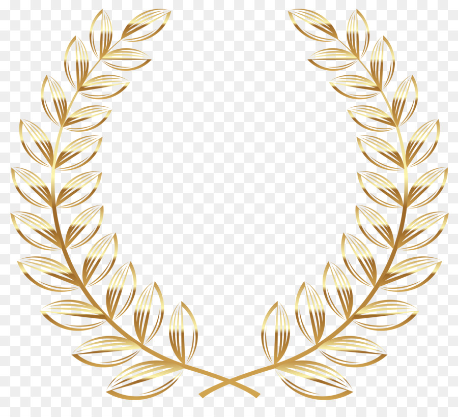 Wing Gold >> Laurel wreath Gold Clip art - wreath png download - 5269*4708 - Free Transparent Grass Family ...