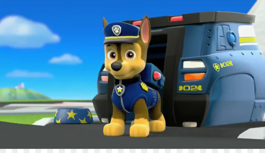 german shepherd puppy chase bank television toy paw patrol png