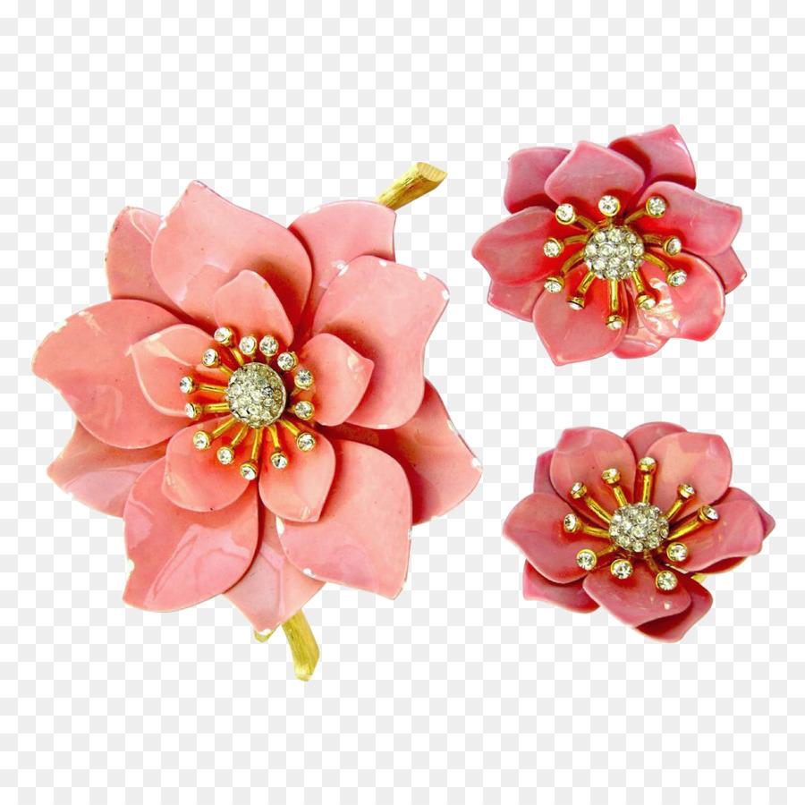 Earring Flower Jewellery Poppy Pin Flower Crown Png Download