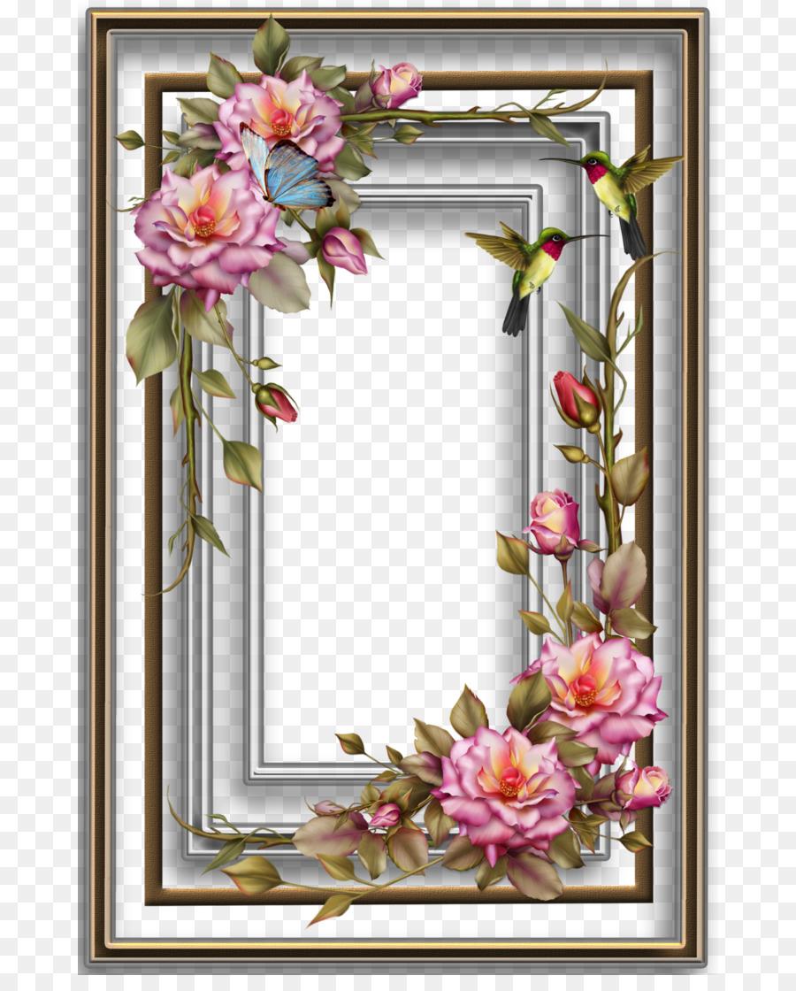Paper Wedding invitation Picture Frames Decoupage Flower - frame png ...