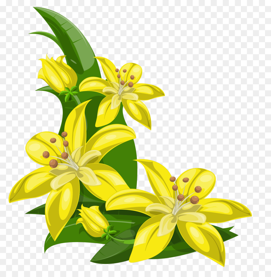 Flower Yellow Clip Art Tropical Flower Png Download 64176469
