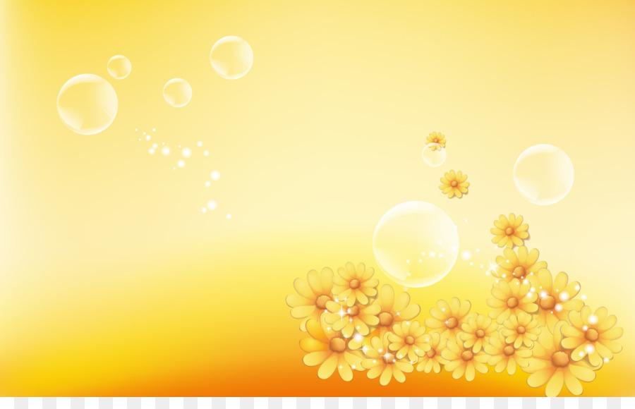 The Yellow Wallpaper Light Desktop Flower