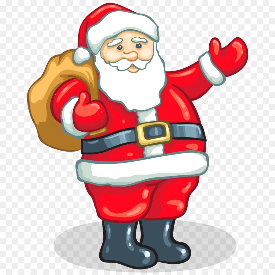 Santa Claus Father Christmas Gift Clip art - Santa png download ...