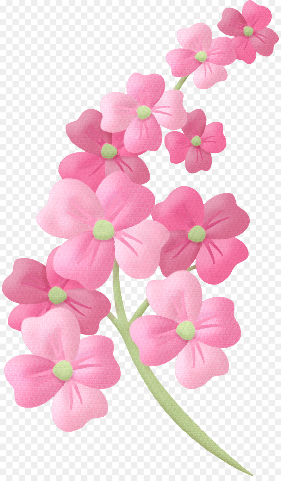 Pink Flowers Clip Art Peach Flower Png Download 8881525 Free