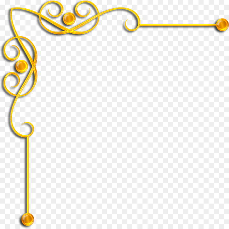 Borders and Frames Gold Clip art - gold corner png download - 1219 ...