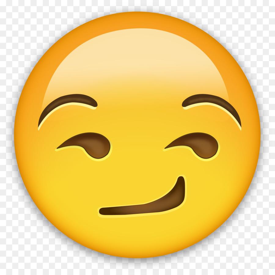 IPhone Emoji Smirk Sticker Emoticon