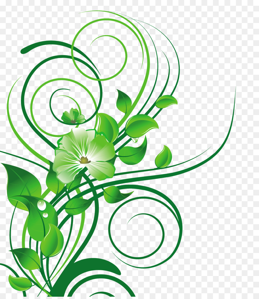 Flower Green Green Vector Png Download 3334 3822 Free