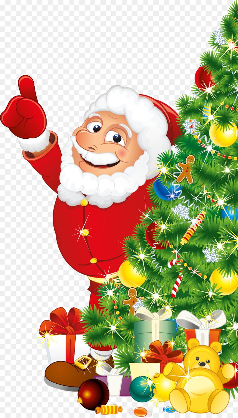 Santa Claus Christmas Card Clip Art Saint Nicholas Png Download