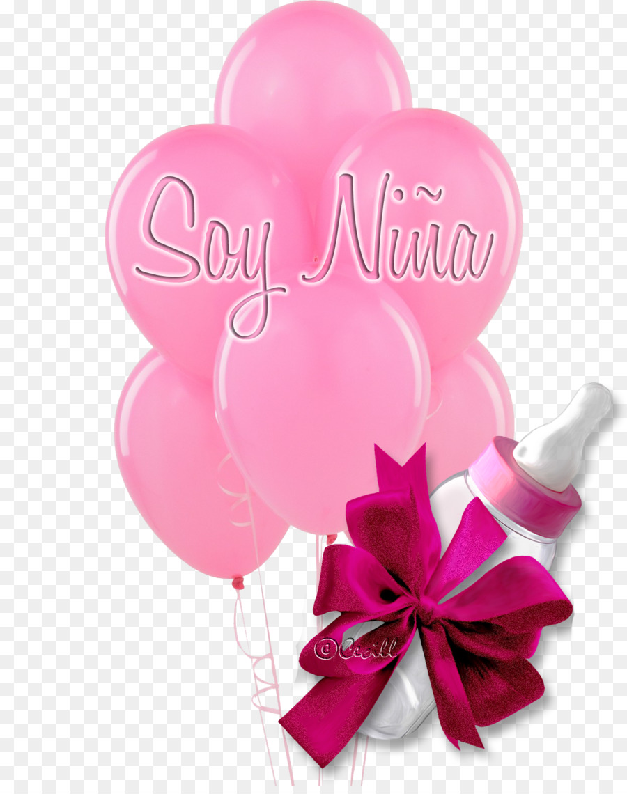 Balloon Flower bouquet Birthday Pink Baby shower - baby shower png ...