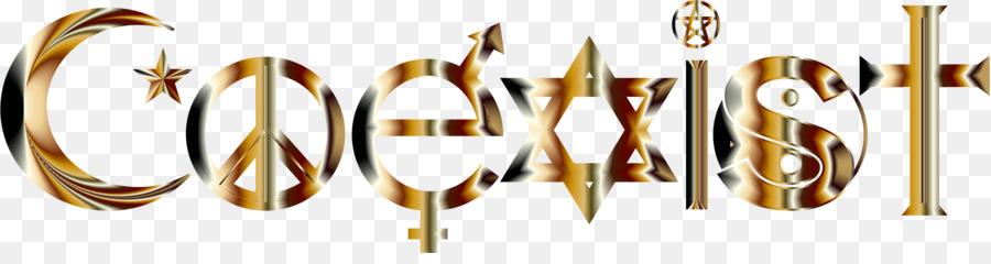 Coexist Symbols Of Islam Christian Symbolism Clip Art Judaism Png