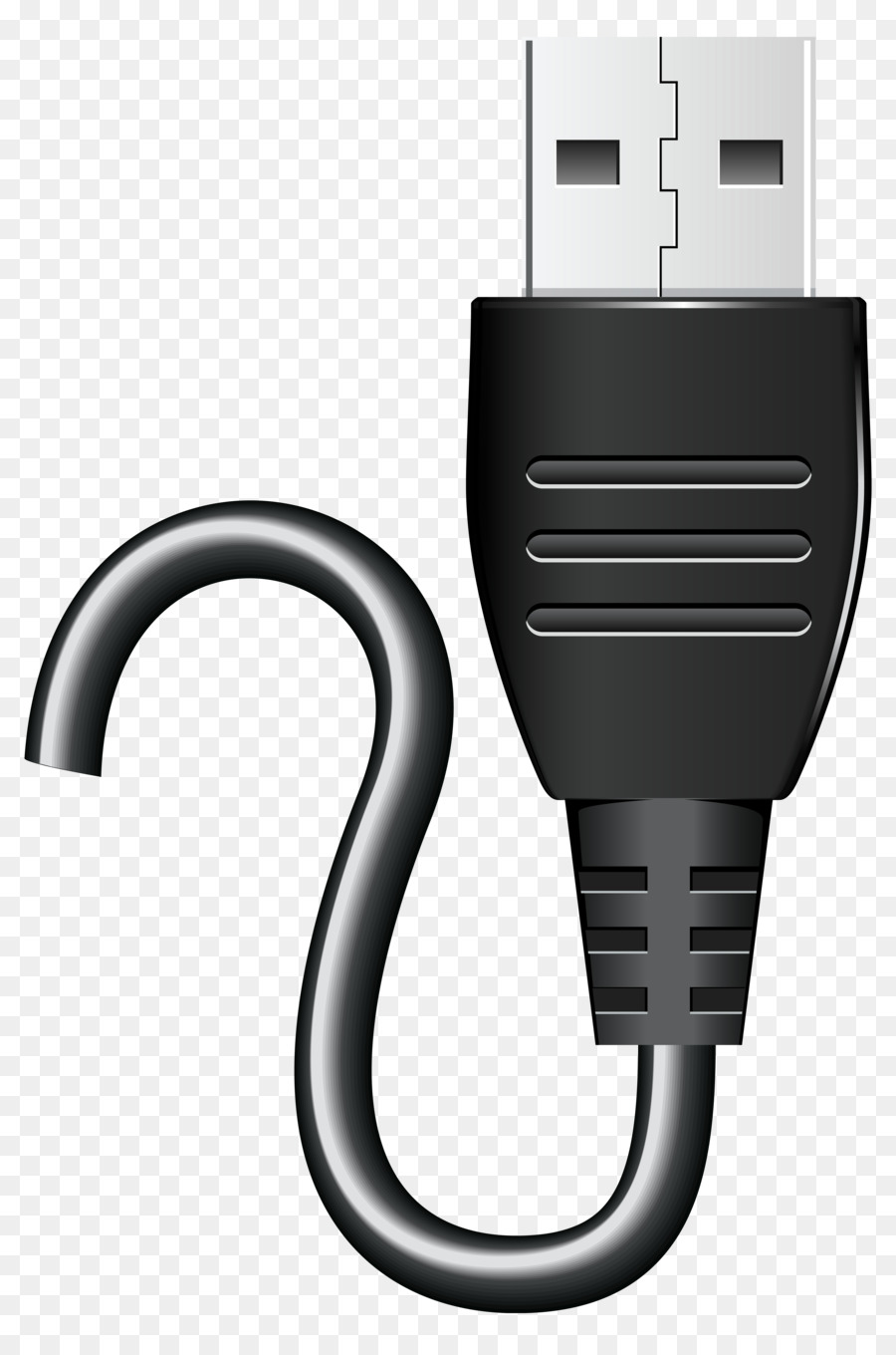 Usb Flash Drives Electrical Cable Clip Art Download 4111 To Wiring Diagram