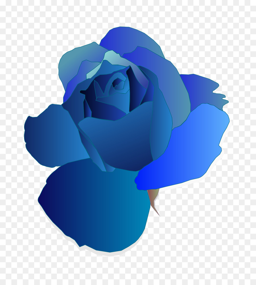 Blue Rose Clip Art Blue Flower Png Download 21752400 Free