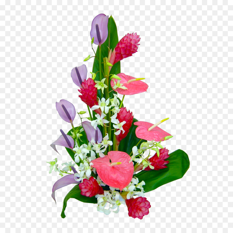 Hawaii Flower bouquet Floral design Clip art - tropical flower png ...