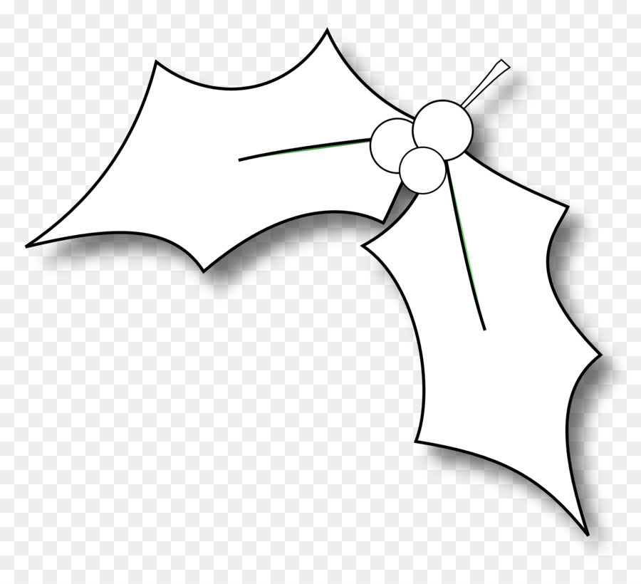 common holly black and white christmas coloring book clip art leaflet