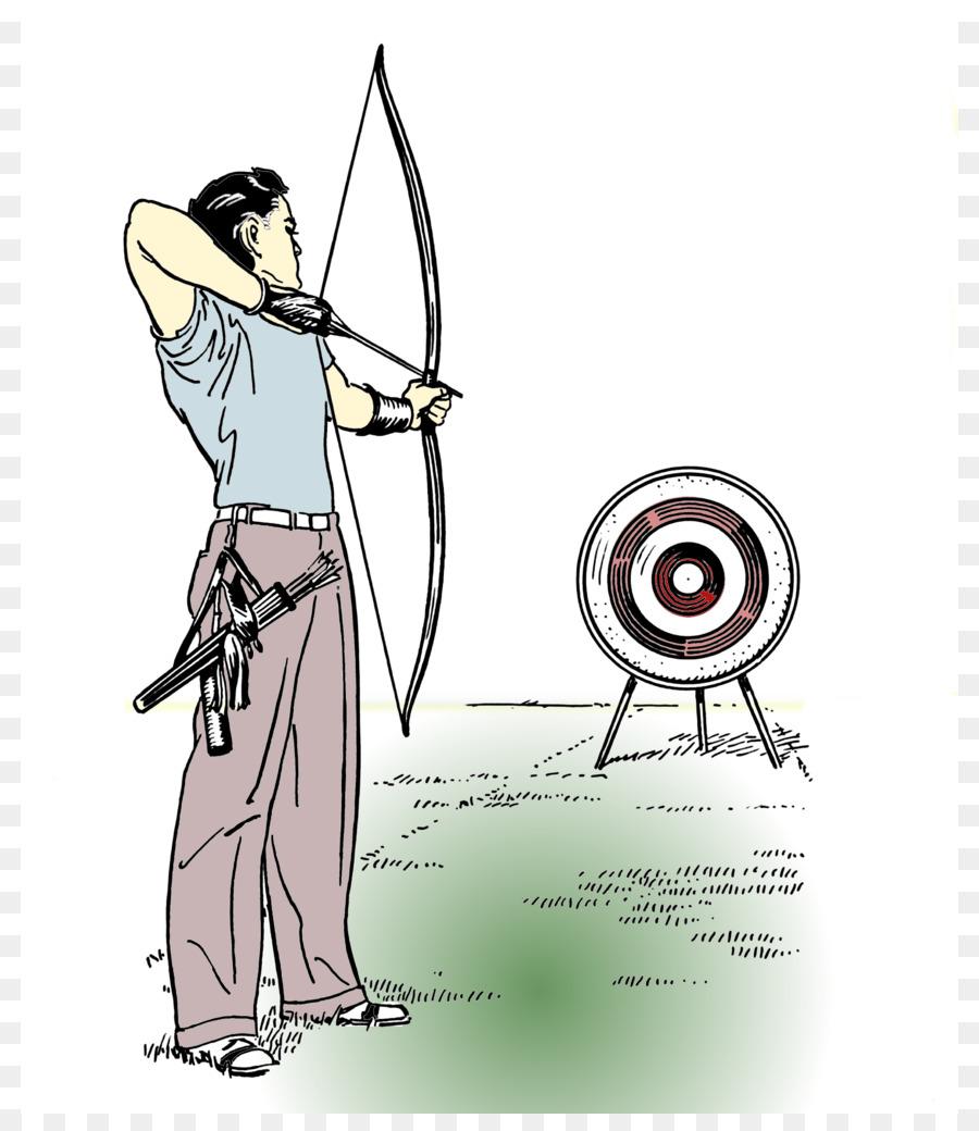 Tiro con Arco y flecha Dibujo de caza con arco, - arco y flecha ...