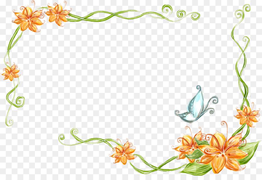 Flower Presentation Picture Frames Clip Art Ppt Png Download