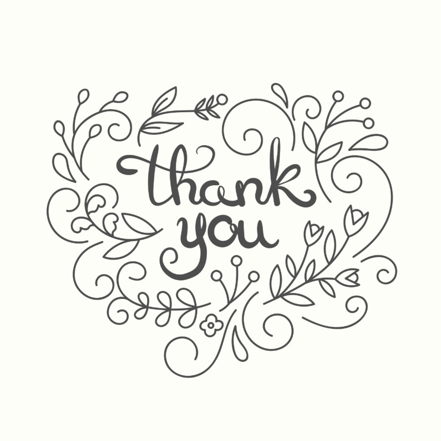 line art drawing thank you png download 1002 1002 free
