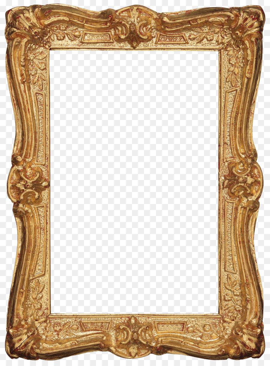 Picture Frames Window Decorative arts - gold frames png download ...