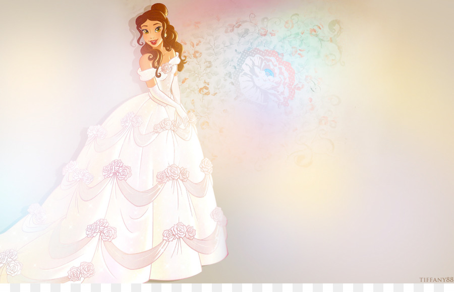 Belle Rapunzel Wedding dress Desktop Wallpaper - belle png download ...
