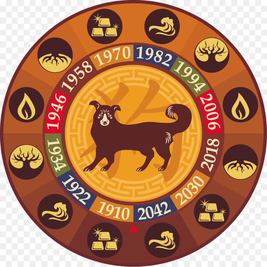 Calendario Zodiaco.Zodiaco Cinese Cane Segno Zodiacale Calendario Cinese