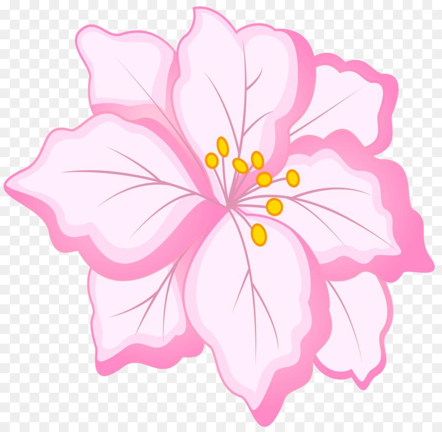 Pink Flowers Floral Design Clip Art White Flower Png Download
