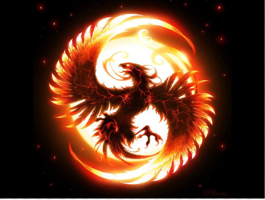 phoenix fire bird legendary creature flame phoenix png download