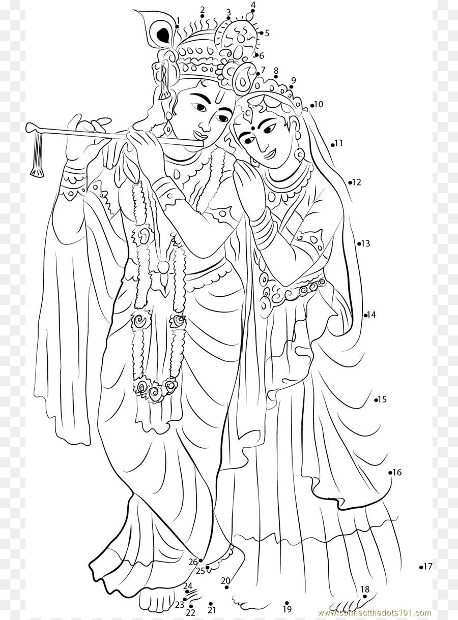 Krishna Janmashtami Radha Krishna Drawing - Lord Krishna Png Download - 800*1216 - Free ...