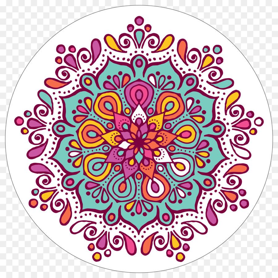 Mandala Coloring book Rangoli Clip art - mandala png download - 5000 ...