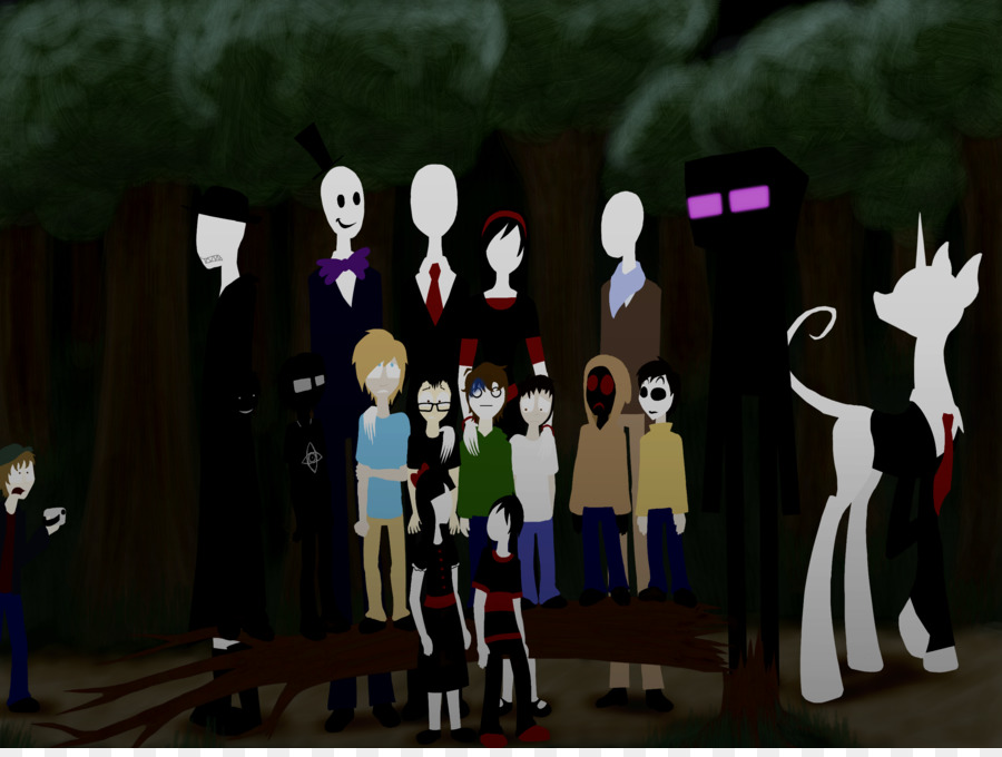 Slender The Eight Pages Slenderman Family Creepypasta Brother