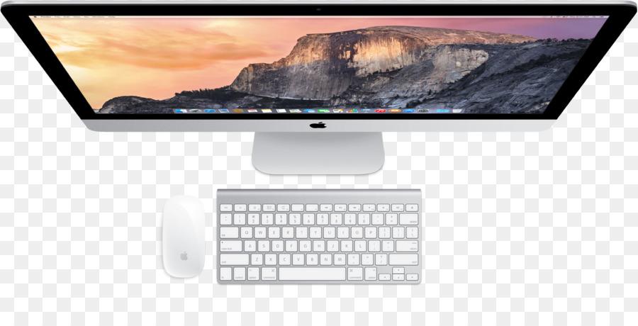 Magic Mouse Mac Mini Imac Desktop Computers Top View Png