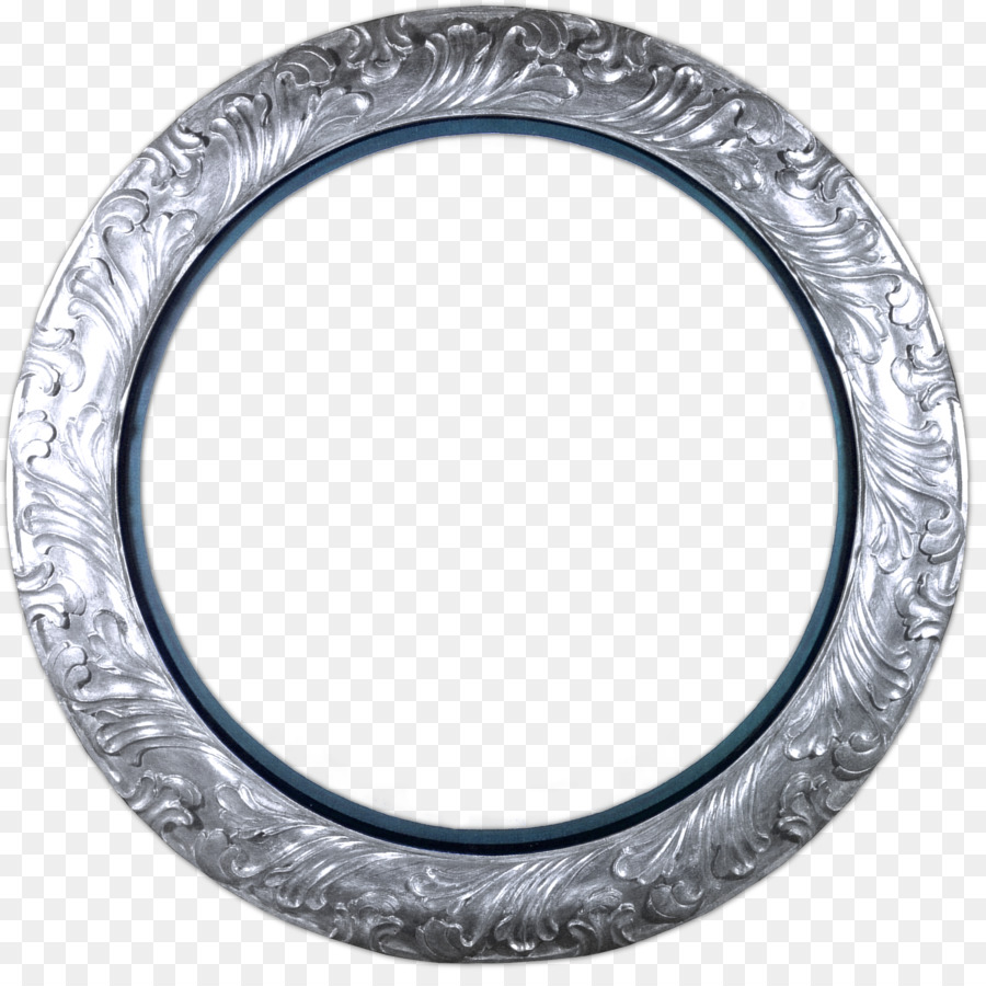 Picture Frames Circle Gold Clip art - silver frame png download ...