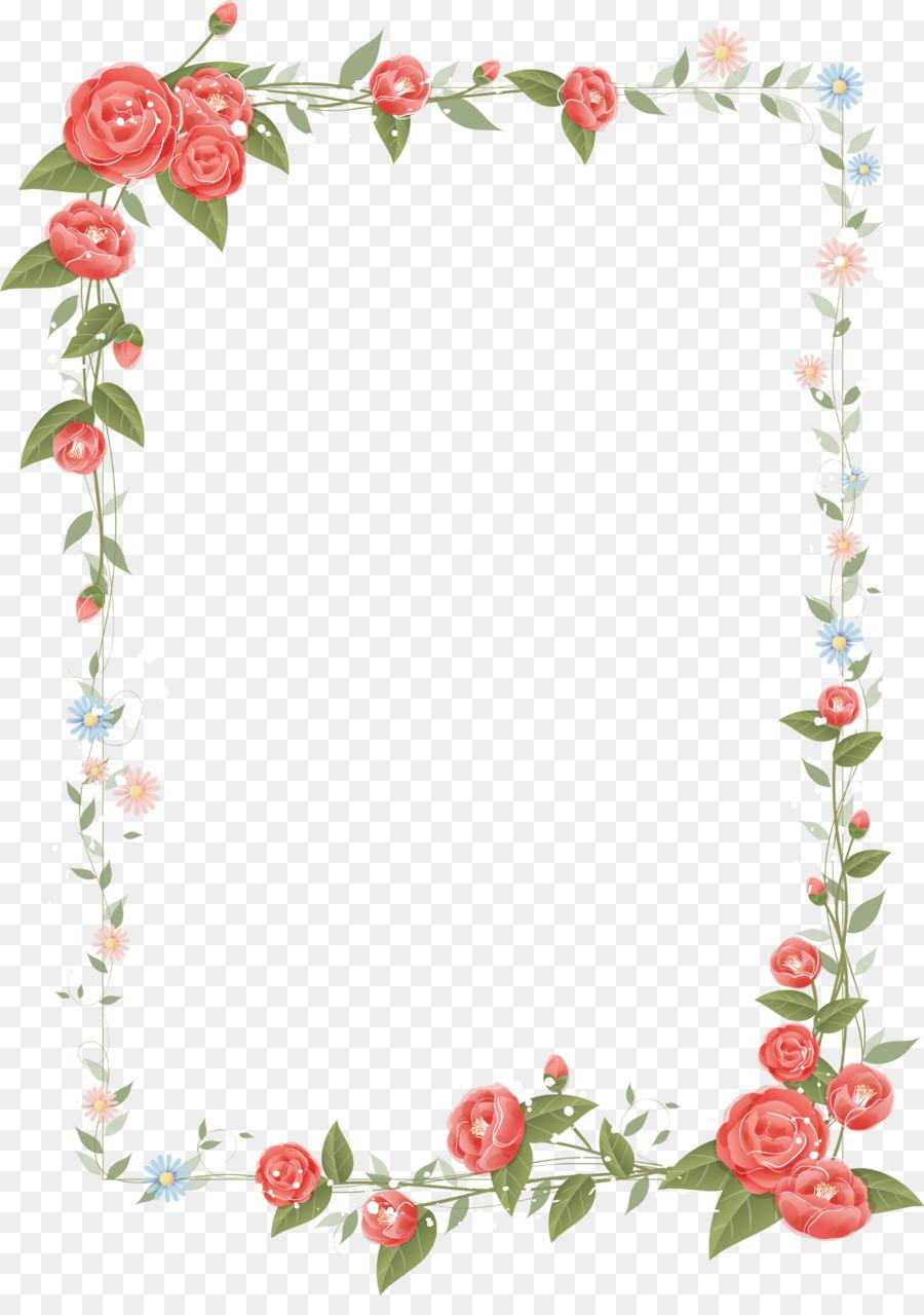 Border Flowers Floral design Clip art - rose frame png download ...