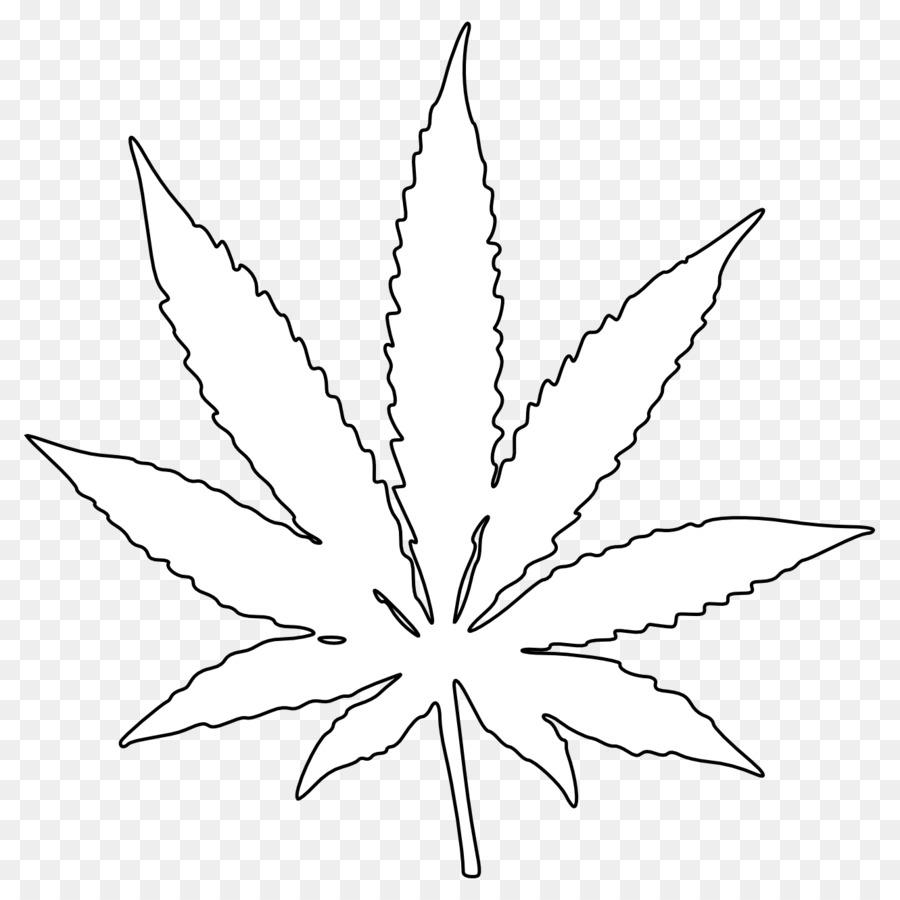 Cannabis, la Hoja de Dibujo para Colorear libro Clip art - bote de ...