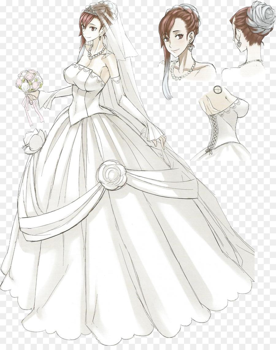 Valkyria Revolution Wedding dress Art Drawing - wedding dress png ...