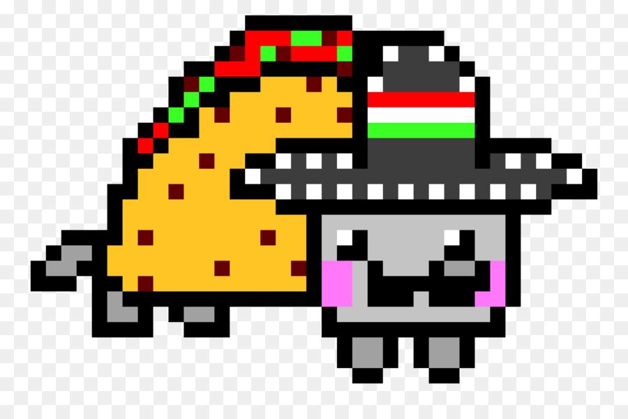 Drawing Lines With Pixels : Nyan cat pixel art drawing tacos  transprent