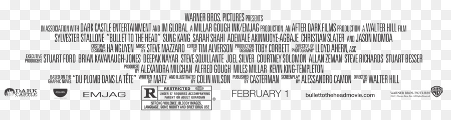 Hollywood Film Poster Text Closing Credits