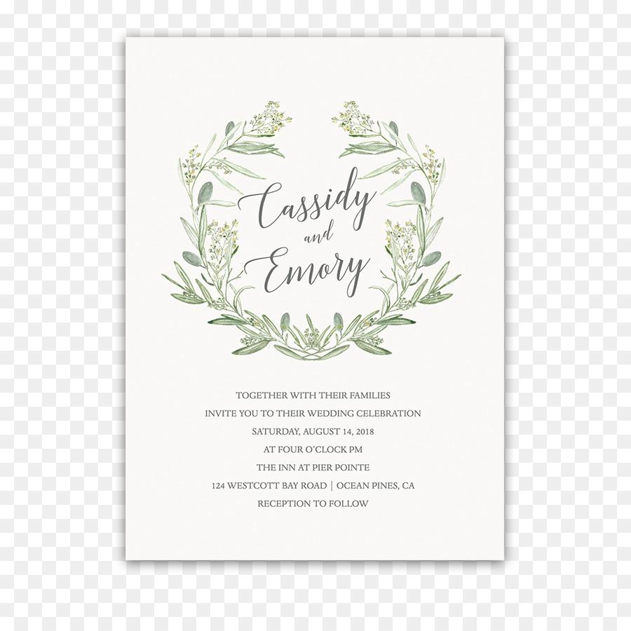 Wedding invitation Paper Laurel wreath - wedding invitation png ...
