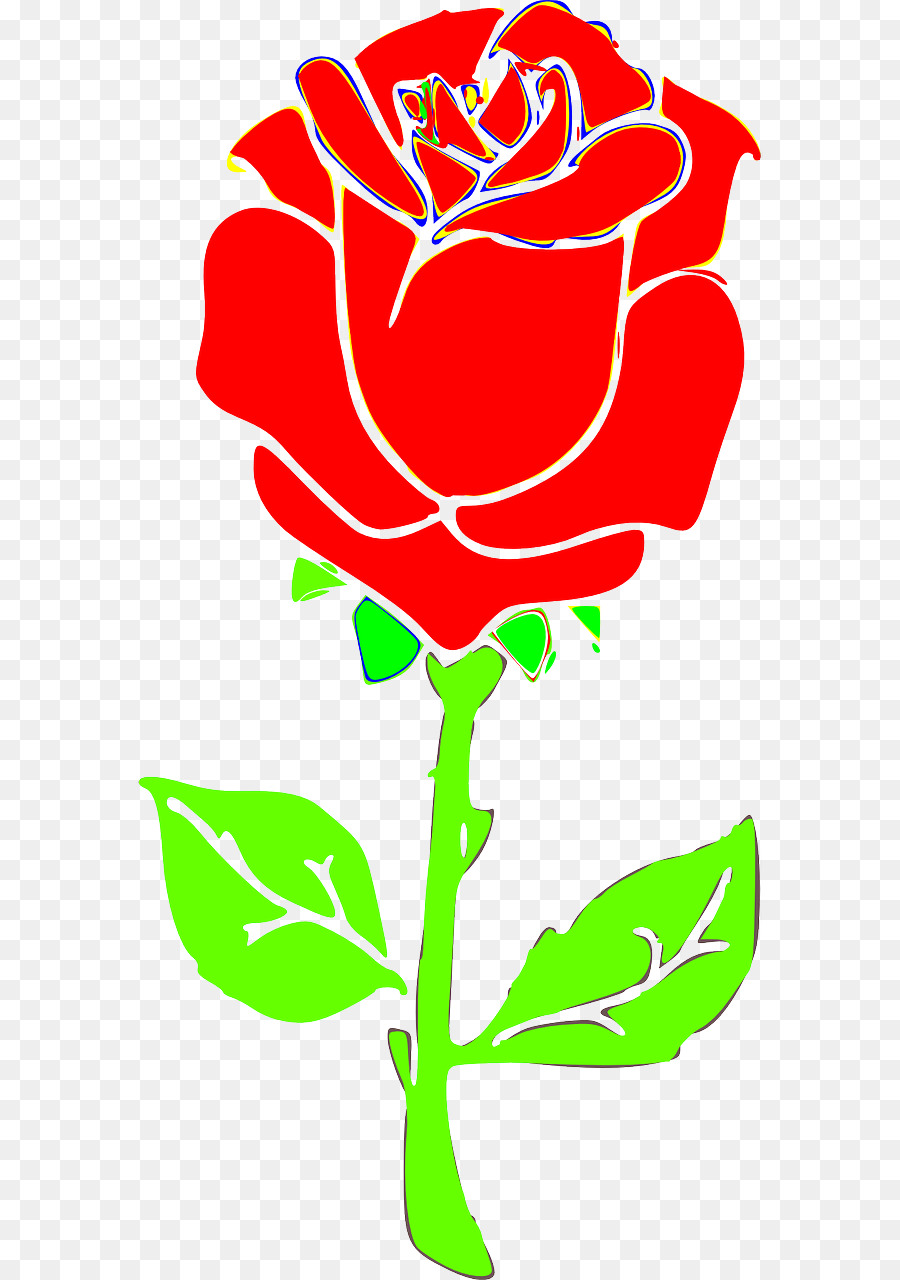 flower red rose clip art rose vector png download 640 1280 rh kisspng com rose vector art free download rose flower vector art