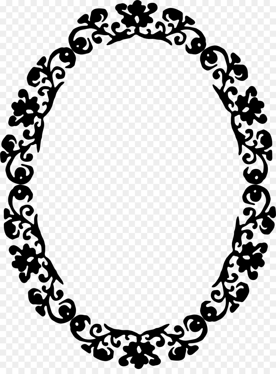 Borders And Frames Black White Ornament Clip Art