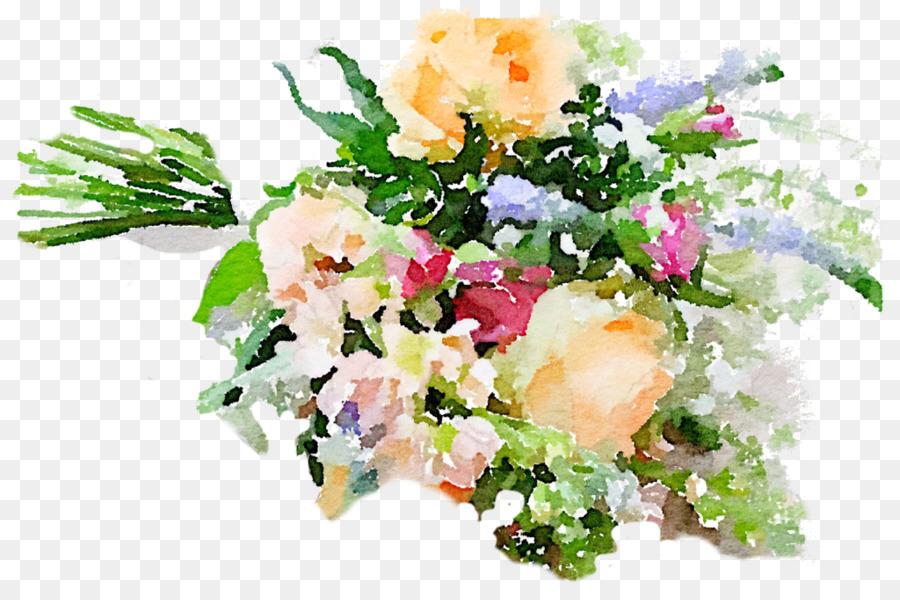 Watercolour Flowers Flower bouquet Cut flowers Floral design ...