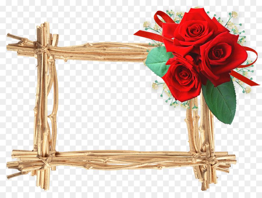 Picture Frames Valentine\'s Day - rose frame png download - 1600*1197 ...