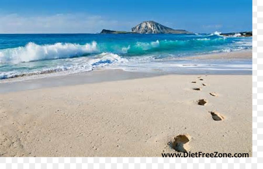 Footprints Beach Desktop Wallpaper