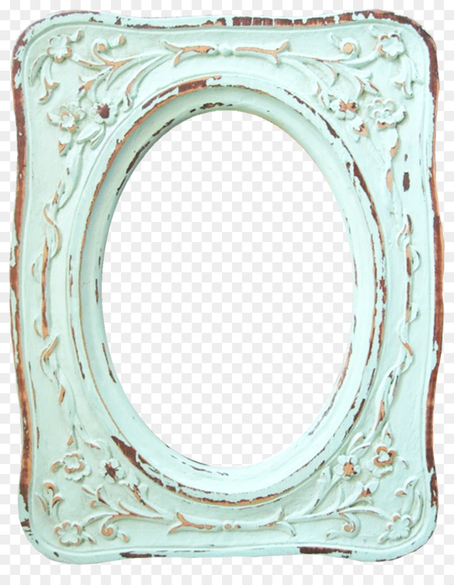 Picture Frames Paper Shabby Chic Watercolor Painting Aqua Frame