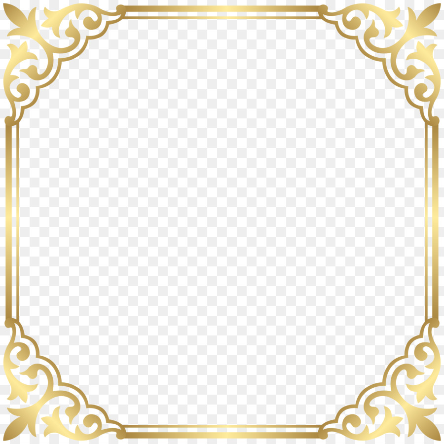 Borders And Frames Gold Picture Clip Art