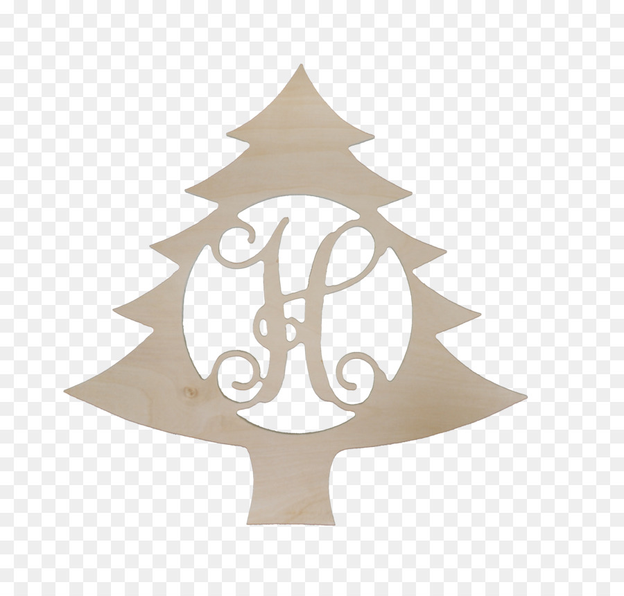 monogram wood christmas tree paint hanger - Wooden Christmas Ornaments To Paint